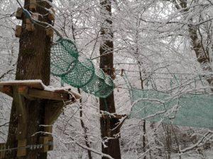 accrobranche paris sous la neige